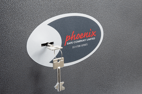 Phoenix Lynx High Security Safe Cabinet with Key Lock Graphite In Uk