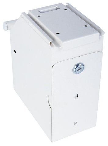 Image of Phoenix Under Counter Note Deposit Safe with 2 Key Locks, White