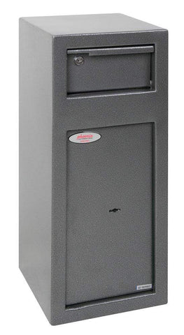 Phoenix Cashier Day Deposit Security Safe, Graphite With Key Lock
