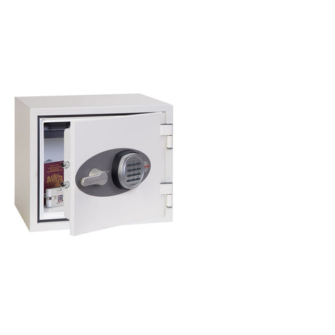 Phoenix Titan White Electronic Fireproof Safe With Electronic Lock