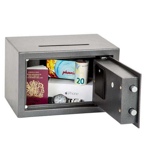 Phoenix Vela Deposit Home & Office Security Safe with Electronic Lock
