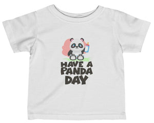 """Have A Panda Day"" Short Sleeve Fine Jersey Tee"