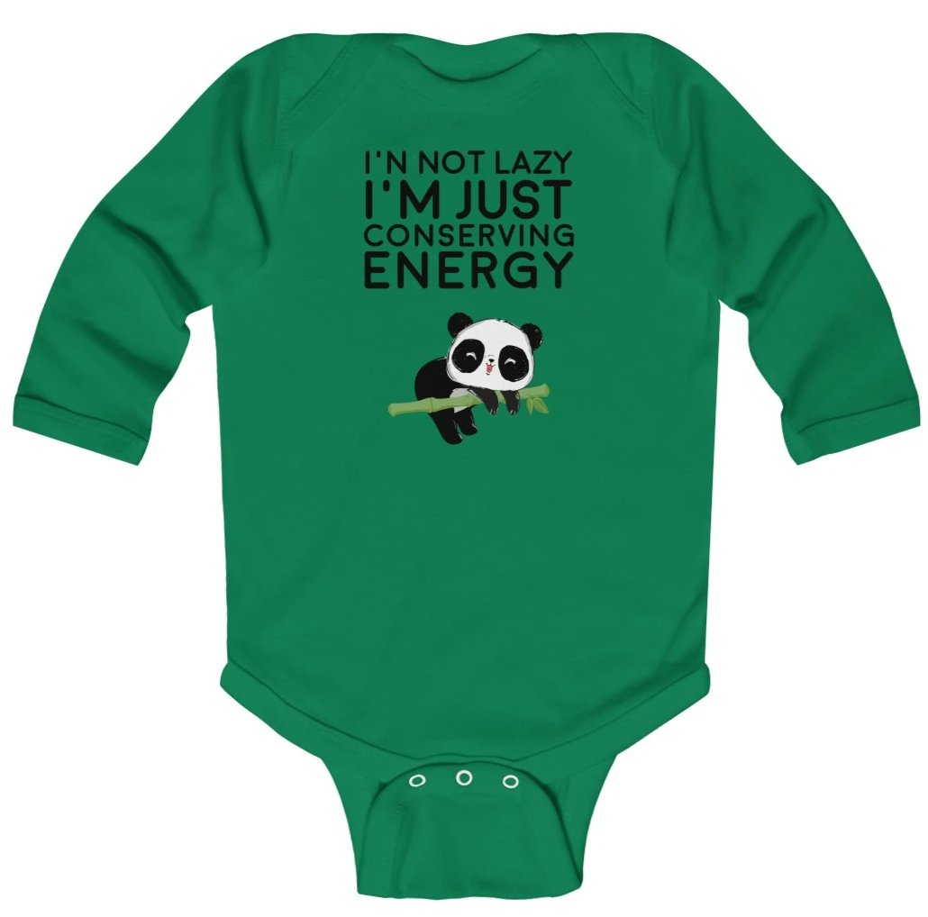 """Conserving Enery"" Baby Long Sleeve Bodysuit"