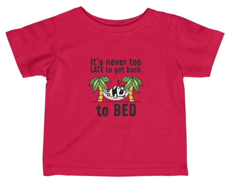 """Get Back to Bed"" Short Sleeve Fine Jersey Tee"