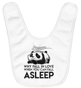 """Fall Asleep"" Fleece Baby Bib"