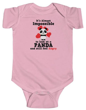 """Look At A Panda"" Baby's Short Sleeve Fine Jersey Bodysuit"