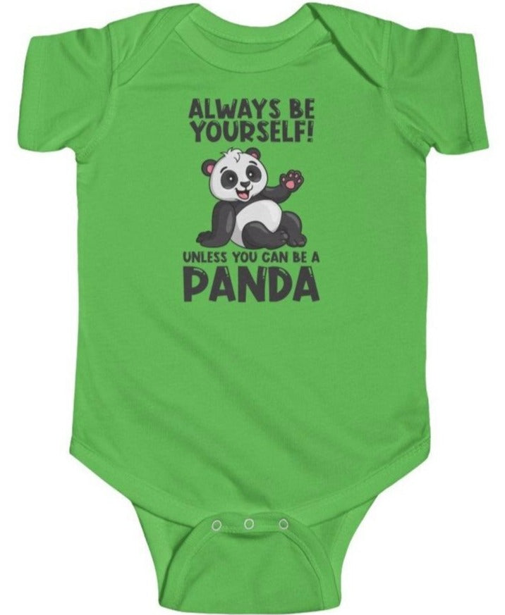 """Allways Be Yourself"" Baby's Short Sleeve Fine Jersey Bodysuit"