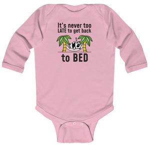 """Go Back to Bed"" Baby Long Sleeve Bodysuit"