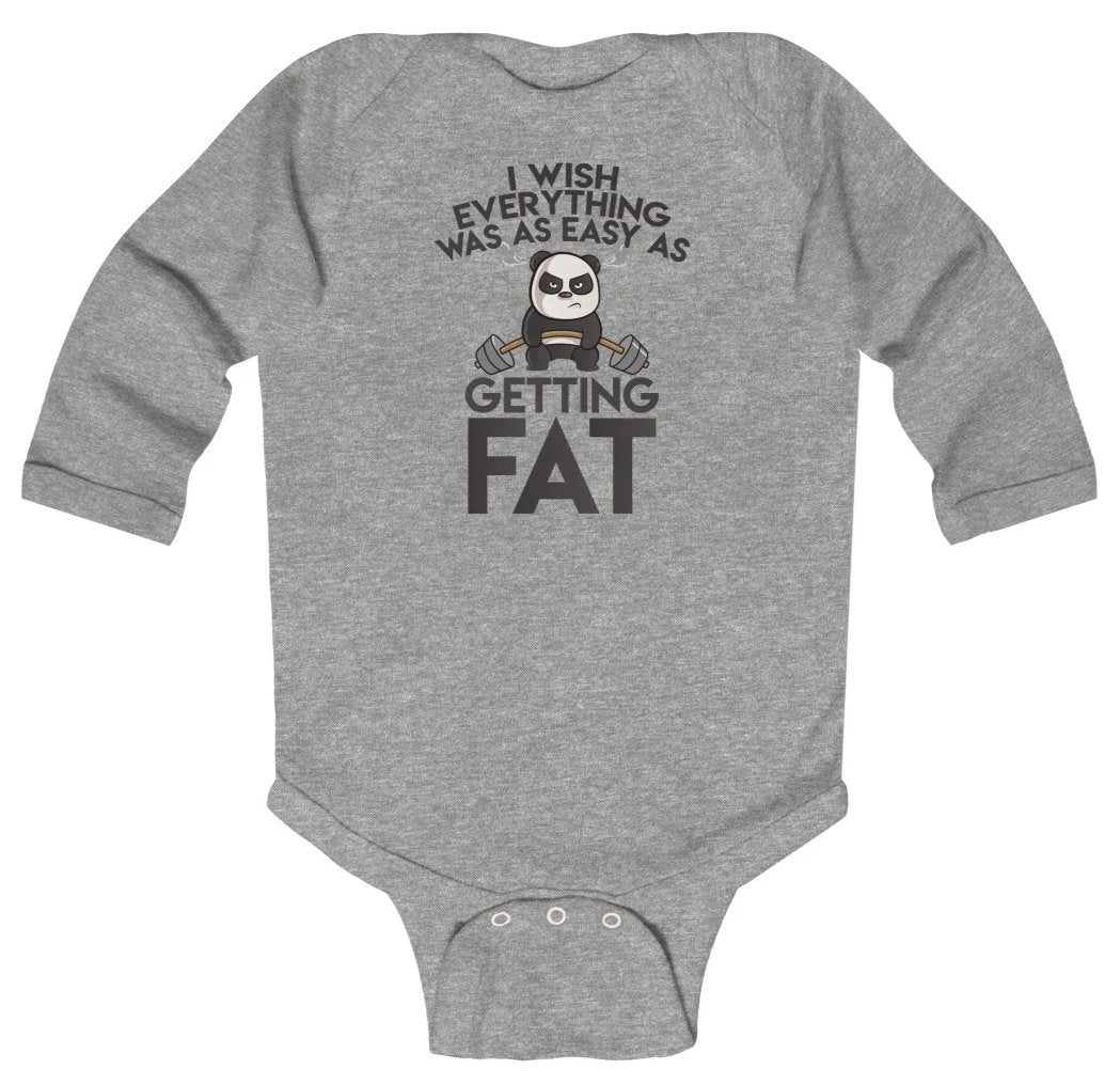 Sweet Panda Baby Long Sleeve Bodysuit