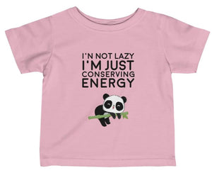 """Conserving Energy"" Short Sleeve Fine Jersey Tee"