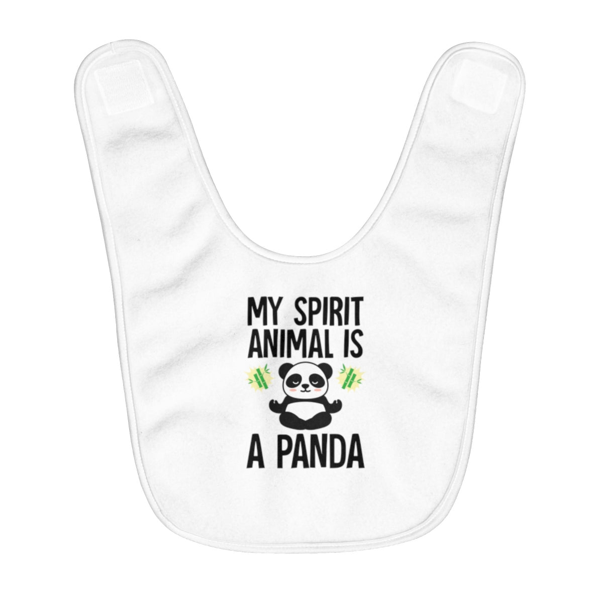 """Spirit Animal Panda"" Fleece Baby Bib"
