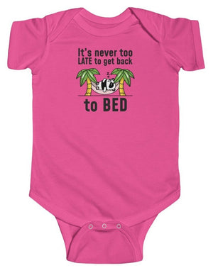 """Go Back to Bed"" Short Sleeve Fine Jersey Bodysuit"