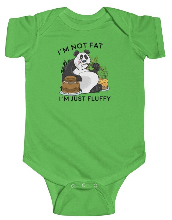 """I'm Just Fluffy"" Baby's short sleeve Fine Jersey Bodysuit"