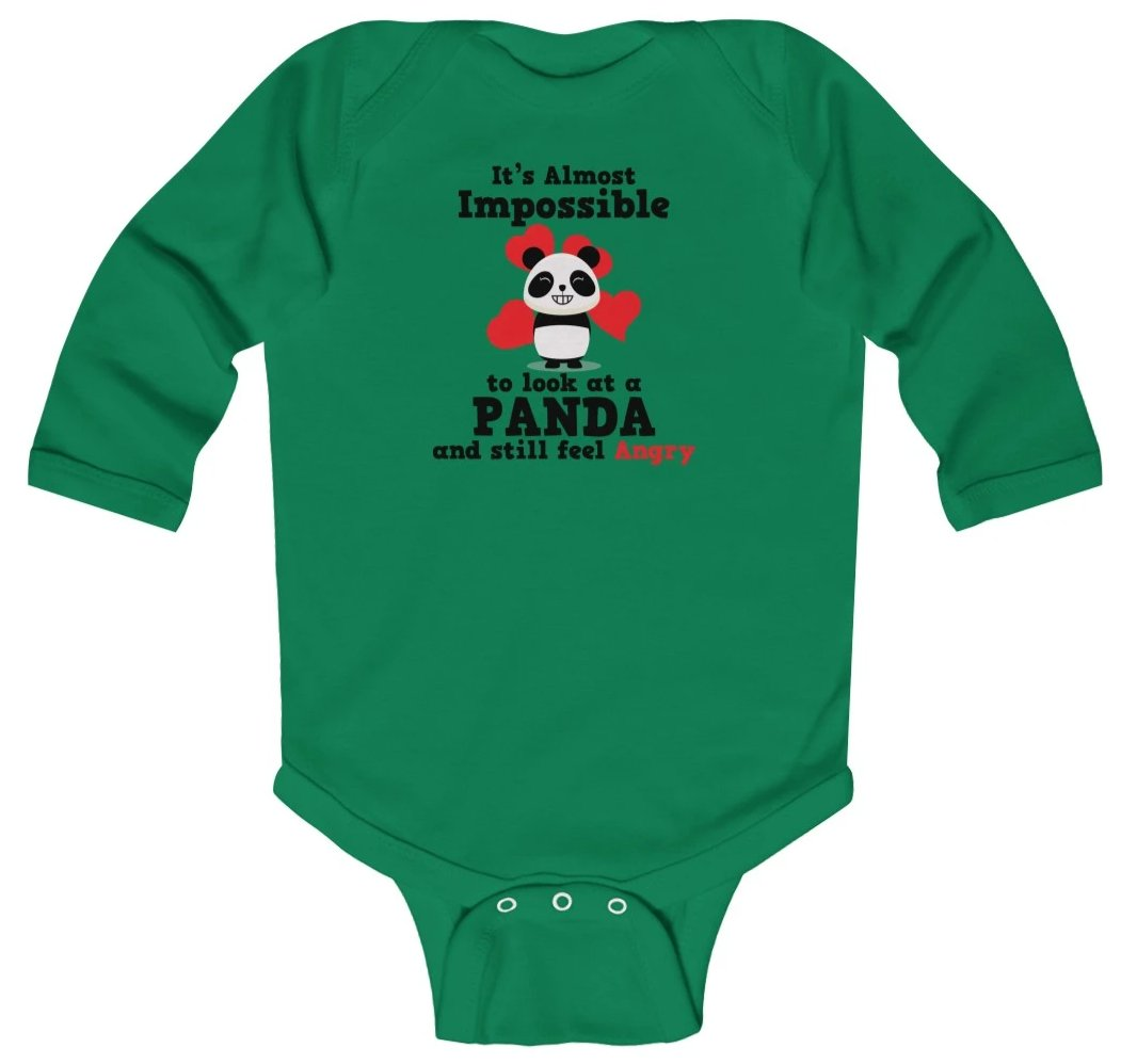 """Look at a Panda"" Baby Long Sleeve Bodysuit"