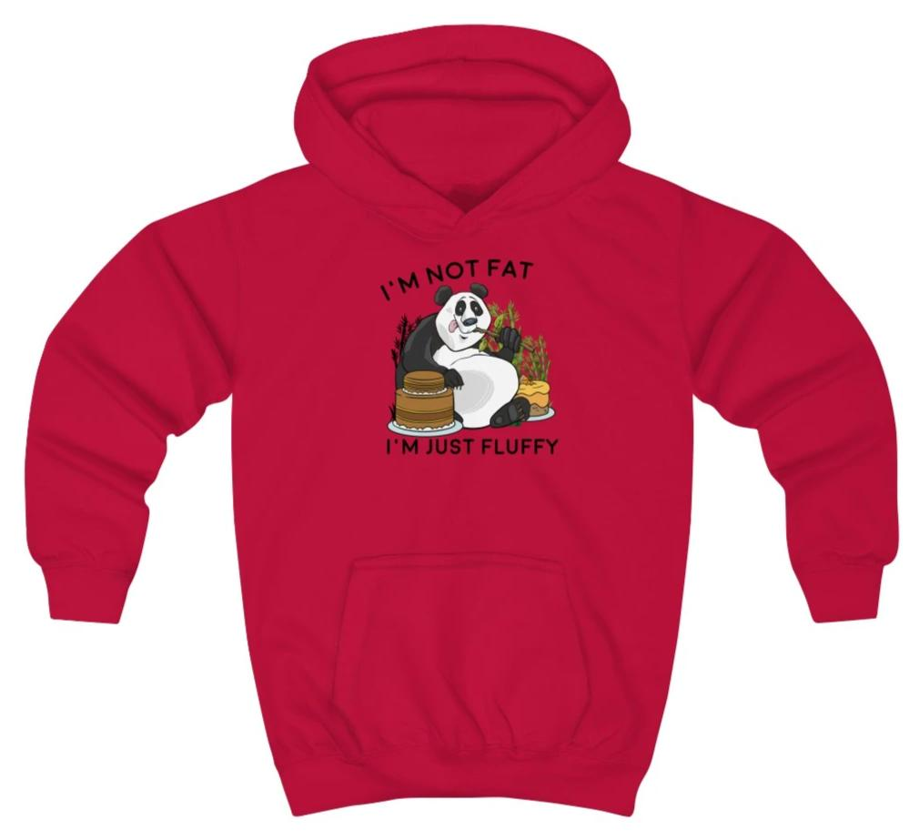 """I'm Not Fat, I'm just Fluffy"" Kids Sweatshirt"