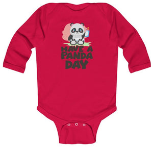"""Have a Panda Day"" Baby Long Sleeve Bodysuit"