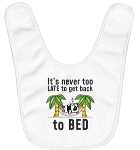 """Go Back to Bed"" Fleece Baby Bib"