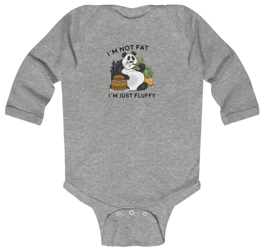 """I'm Not Fat, I'm Just Fluffy"" Baby Long Sleeve Bodysuit"