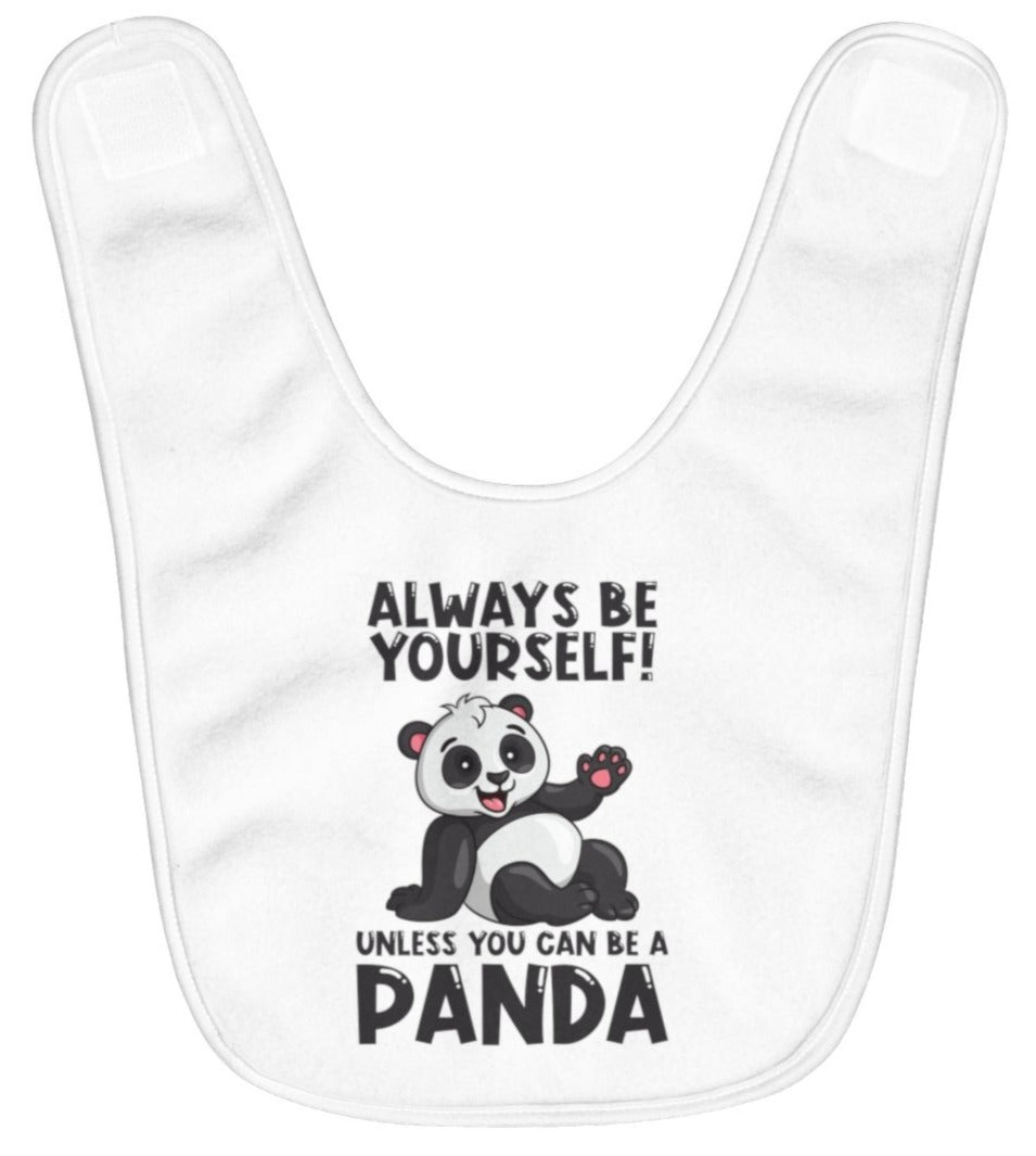"""Allways Be Yourself"" Fleece Baby Bib"