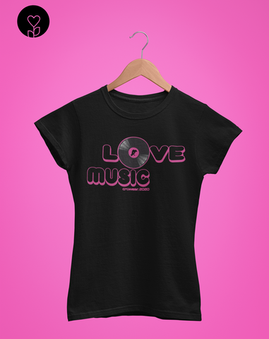 Love Music Pink - Organic cotton t-shirt