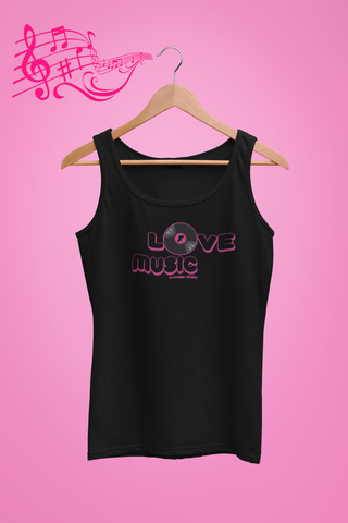 Love Music Pink Tank - Organic cotton top