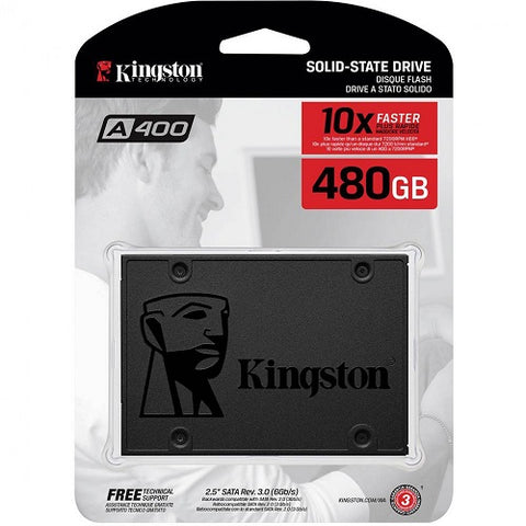 Kingston A400 - 480GB Internal SSD 2.5 Inch SATA -  SA400S37-480G - ECS Online Store