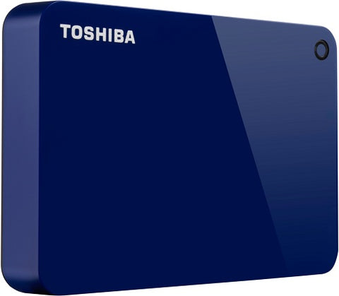 Toshiba 4TB Canvio Advance USB 3.0 Portable External Hard Drive (Blue) - HDTC940EL3CA