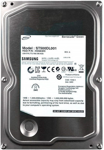 Samsung by Seagate 500GB Internal HDD SATA 3.5 Inch - ST500DL001 - ECS Online Store