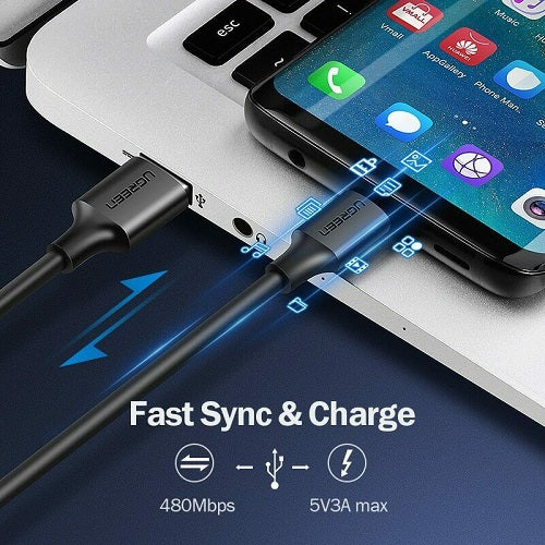 UGREEN USB Type-C Charging Cable 1.5M Black - ECS Online Store