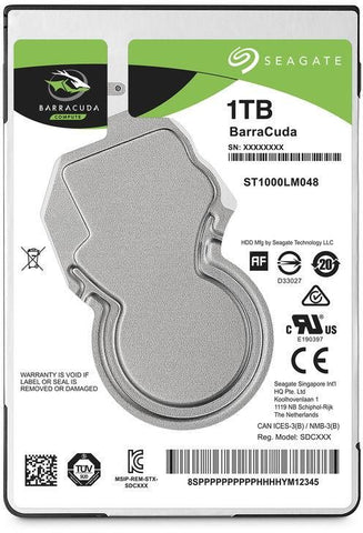 Seagate 1TB BarraCuda Compute Internal HDD SATA 2.5 Inch - ST1000DM010