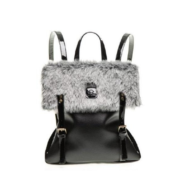 Animalista Gray Furry Bag - Te Koop