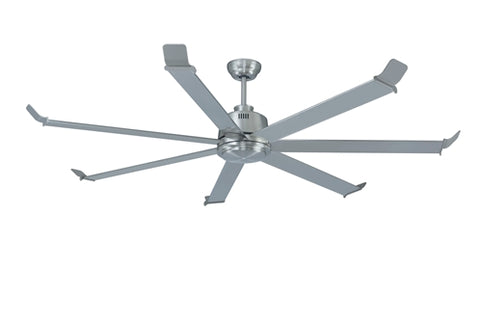 "80"" 7 Blade Brushed Nickel Fan"