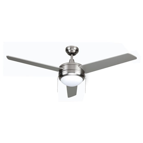 Contempo 3 blade ceiling fan in brushed nickel part 1079bn es