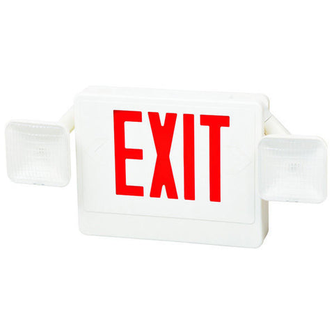LED Combo Exit Sign Red Letters