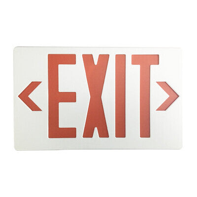Exit Sign Red White Housing