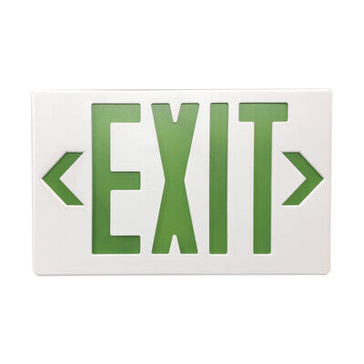 Exit Sign Green White Housing