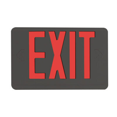 Exit Sign Red Black Housing