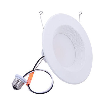 "Residential Downlight Retrofit 6"" 900Lumens 10W 90 CRI 3000/4000/5000 CCT 120V White Trim w/Baffle"