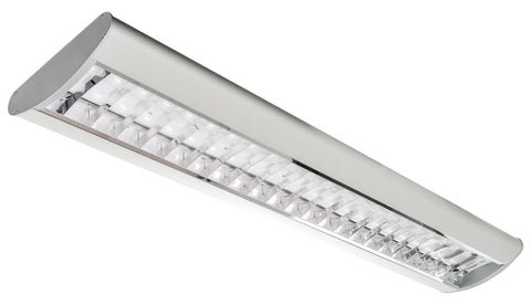 LED Architectural Parabolic Suspended or Surface Mounted Light, 40 Watt 35K