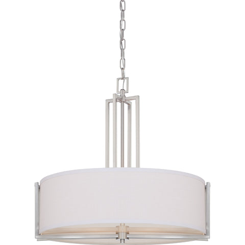 Nuvo pendant lights 2 nuvo 604756 gemini brushed nickel four light pendant part 60 4756 mozeypictures Choice Image
