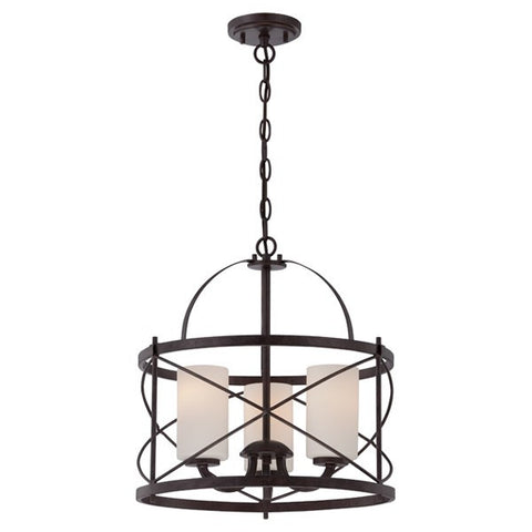 Nuvo pendant lights ginger 3 light pendant fixture with etched opal glass part 60 5337 mozeypictures Choice Image
