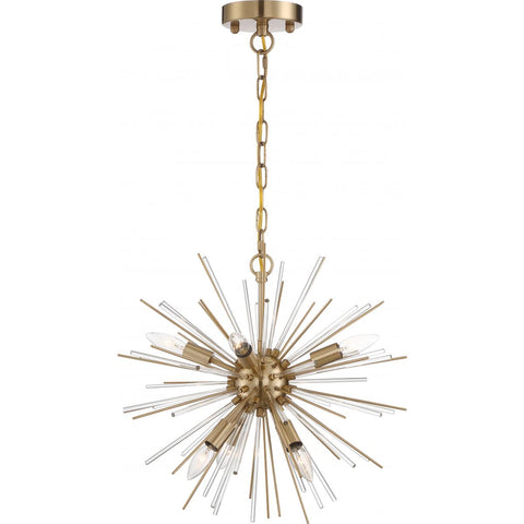 Cirrus - 6 Light Chandelier - with Glass Rods