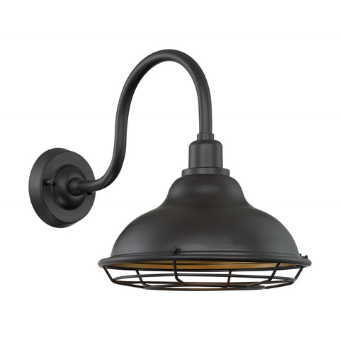 Newbridge - 1 Light Outdoor Sconce with- Dark Bronze
