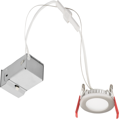 lithonia 3 in ultra thin matted white led downlight 4000k