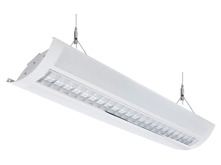 LED Architectural Parabolic 4' Suspended Direct/Indirect Light 3500K
