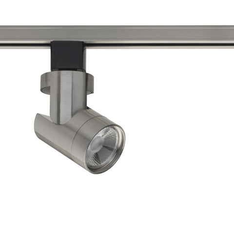 LED 12W Track Head - Barrel - Brushed Nickel Finish