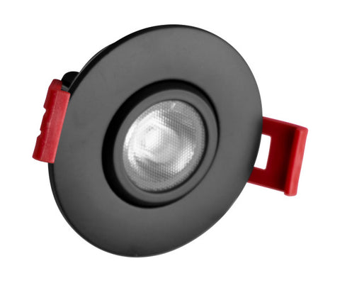2-inch LED Gimbal Recessed Downlight in Black, 4000K