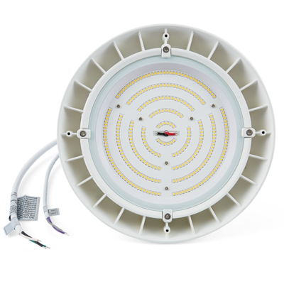 CRQ 4000K, 150W LED Round High Bay Luminaire - White