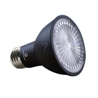 Green Creative 8 Watt Dimmable LED PAR20 - 3000K - 550 Lumens - 120V - Black