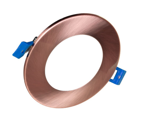 4 in. Round Aged Copper Flat Panel LED Downlight in 4000K